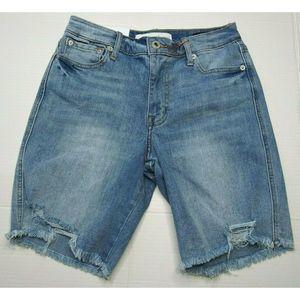 New Ella Moss High Waist Denim Bermuda Shorts